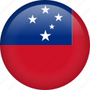 circle, country, flag, nation, national, samoa icon