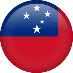circle, country, flag, nation, national, samoa icon