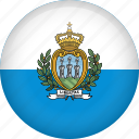 circle, country, flag, nation, san marino icon