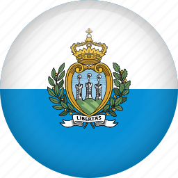 circle, country, flag, nation, san marino icon