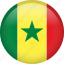 circle, country, flag, nation, national, senegal icon