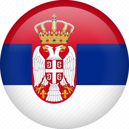 circle, country, flag, nation, national, serbia icon