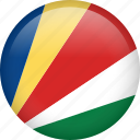 circle, country, flag, nation, national, seychelles icon