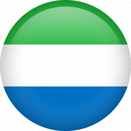 circle, country, flag, nation, national, sierra leone icon