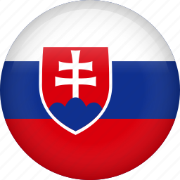 circle, country, flag, nation, national, slovakia icon