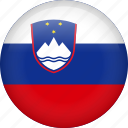 slovenia, circle, country, flag, national