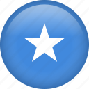 circle, country, flag, nation, national, somalia icon