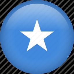 circle, country, flag, nation, national, somalia icon