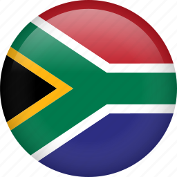 circle, country, flag, nation, national, south africa icon