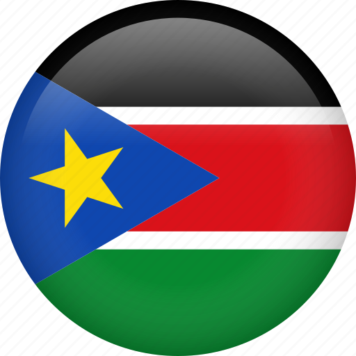 circle, country, flag, nation, national, south sudan icon