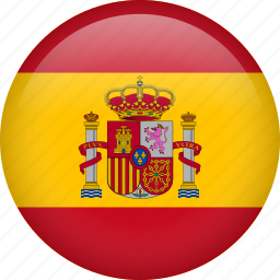 circle, country, flag, nation, national, spain icon
