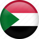 circle, country, flag, nation, national, sudan icon