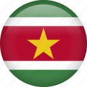 suriname, circle, country, flag, national, nation