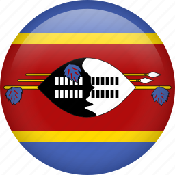 circle, country, flag, nation, national, swaziland icon