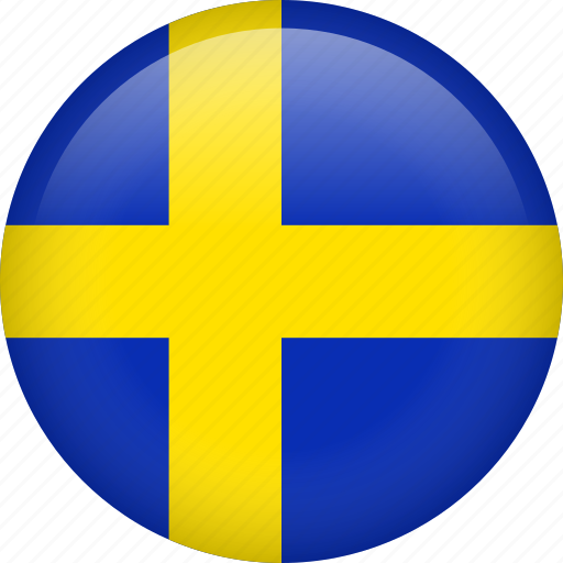 circle, country, flag, nation, national, sweden icon