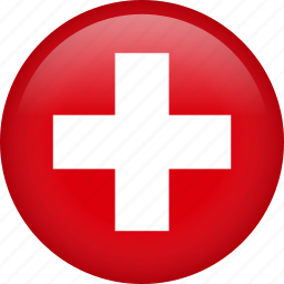 circle, country, flag, nation, national, switzerland icon