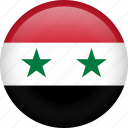 syria, circle, country, flag, national, nation