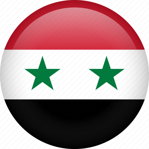 circle, country, flag, nation, national, syria icon