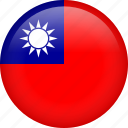 circle, country, flag, nation, national, taiwan icon
