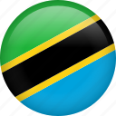 circle, country, flag, nation, national, tanzania icon