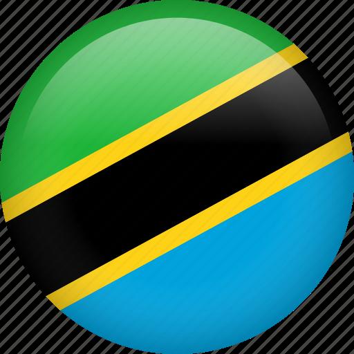 circle, country, flag, nation, national, tanzania icon