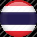 thailand, circle, country, flag, national, nation