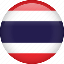 circle, country, flag, nation, national, thailand icon
