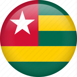 circle, country, flag, nation, national, togo icon