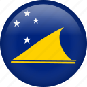 circle, country, flag, nation, national, tokelau icon