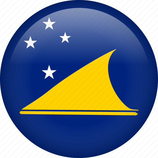 circle, country, flag, nation, national, tokelau icon