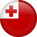 circle, country, flag, nation, national, tonga icon