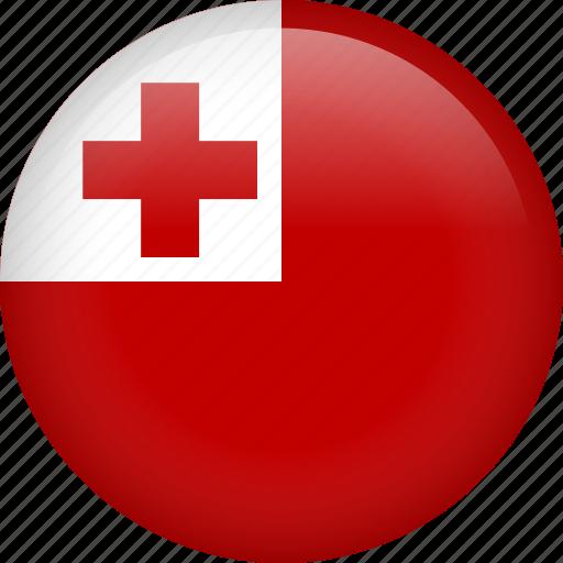 circle, country, flag, nation, national, tonga icon
