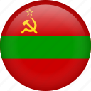 circle, country, flag, nation, national, transnistria icon