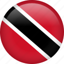 circle, country, flag, nation, national, trinidad and tobago icon