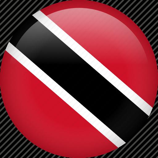 circle, country, flag, nation, national, trinidad and tobago icon