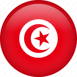circle, country, flag, nation, national, tunisia icon