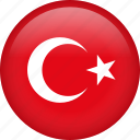 turkey, circle, country, flag, national, nation