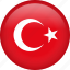 circle, country, flag, nation, national, turkey icon