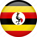 circle, country, flag, nation, national, uganda icon