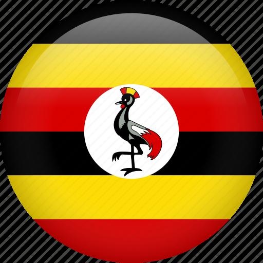 circle, country, flag, nation, national, uganda icon