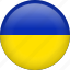 circle, country, flag, nation, national, ukraine icon