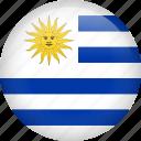 uruguay, circle, country, flag, national, nation