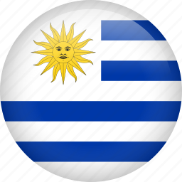circle, country, flag, nation, national, uruguay icon