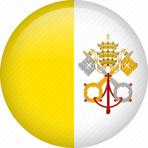 circle, country, flag, nation, national, vatican icon