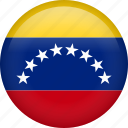 circle, country, flag, nation, national, venezuela icon