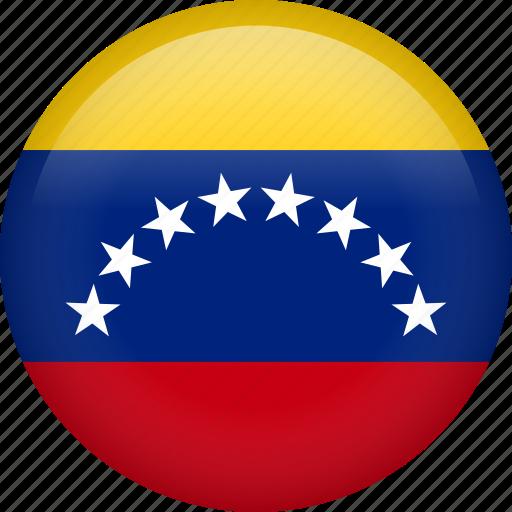 circle, country, flag, nation, national, venezuela icon