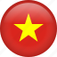 circle, country, flag, nation, national, vietnam icon