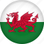 circle, country, flag, nation, national, wales icon