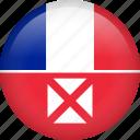 circle, country, flag, nation, wallis and futuna, national