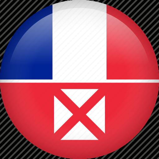 circle, country, flag, nation, national, wallis and futuna icon